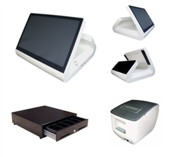 All in One Restaurant POS System (White)