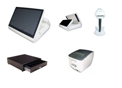 Single Station Retail POS System (White)