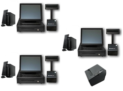 Three Station Quick Serve POS System